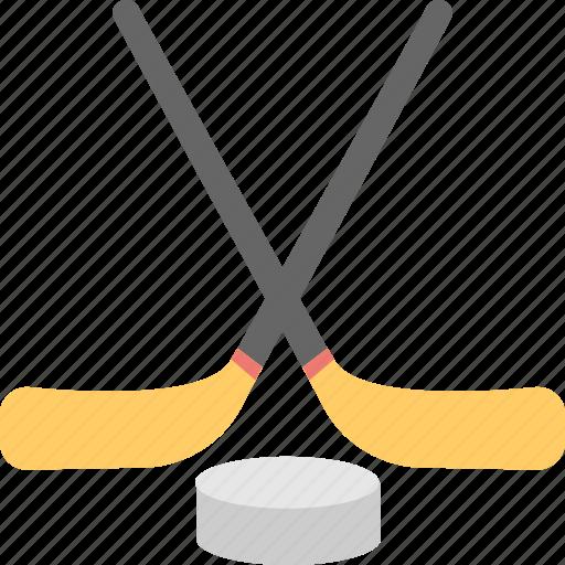 game, hockey stick, ice hockey, puck, sports icon