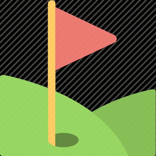 flag, golf, golf club, golf course, sports icon