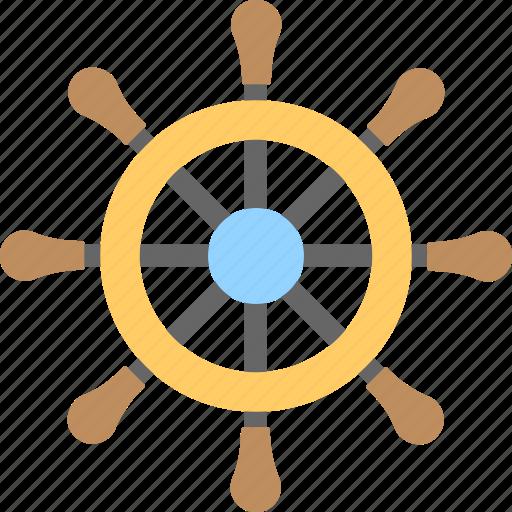 boat wheel, marine, ship wheel, steering, wheel icon