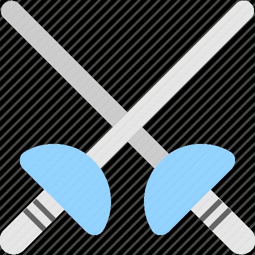 fight, medieval, samurai, swords, weapon icon