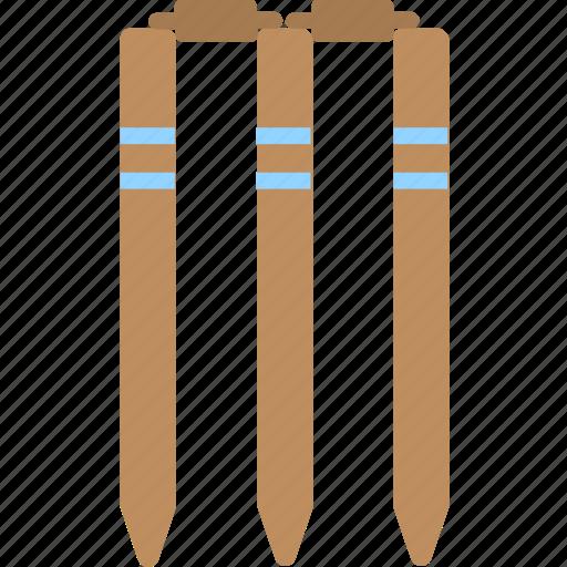 bails, cricket, sports, stump, wicket icon