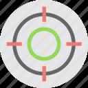 crosshair, focus, goal, shooting, target icon
