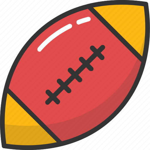 american football, ball, rugby, rugby ball, sports icon