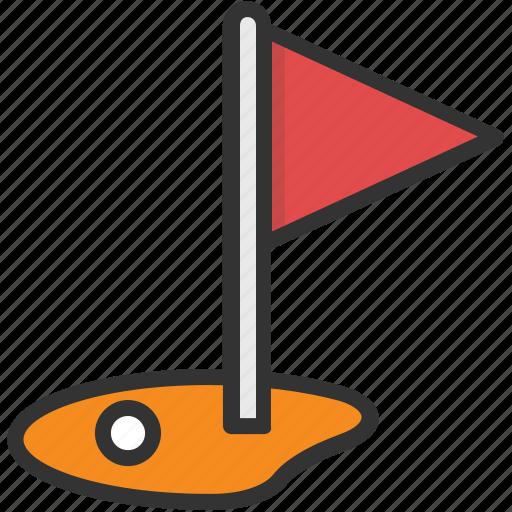 flagpole, golf club, golf course, golf course aerial, golf flag icon