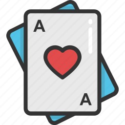 ace of hearts, gambling, heart card, playing card, poker card icon