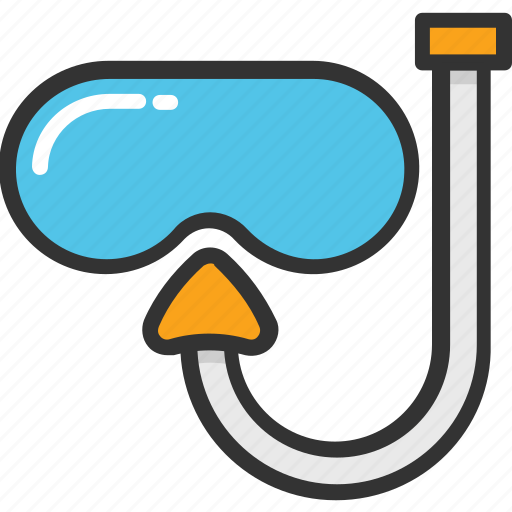 diving equipment, snorkel mask, snorkel tube, snorkeling, swimming icon