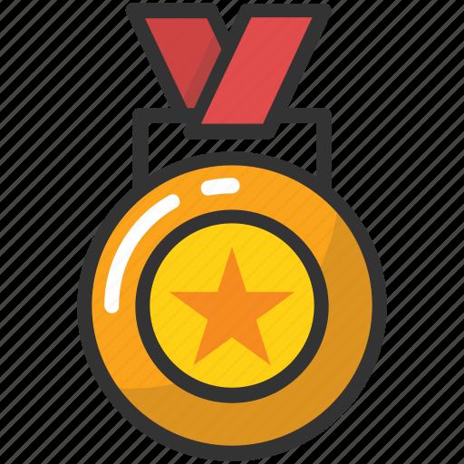 achievement, medal, position, prize, reward icon