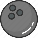 alley ball, bowling ball, bowling game, hitting ball icon