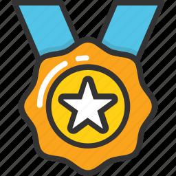 achievement, medal, position, reward, winner icon