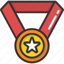 achievement, medal, position, reward, winner icon