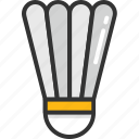 badminton, badminton birdie, feather shuttlecock, shuttlecock, sports equipment icon