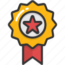 achievement, medal, prize, reward ribbon, ribbon badge icon