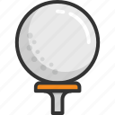 golf ball, golf ball pin, golf hit, golf tee icon