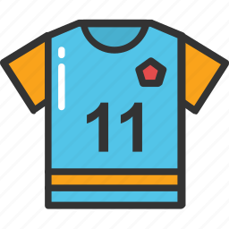 11 number shirt, player shirt, sports clothing, sports shirt, sports wear icon