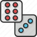 casino, casino dice, dice, dice cube, domino icon