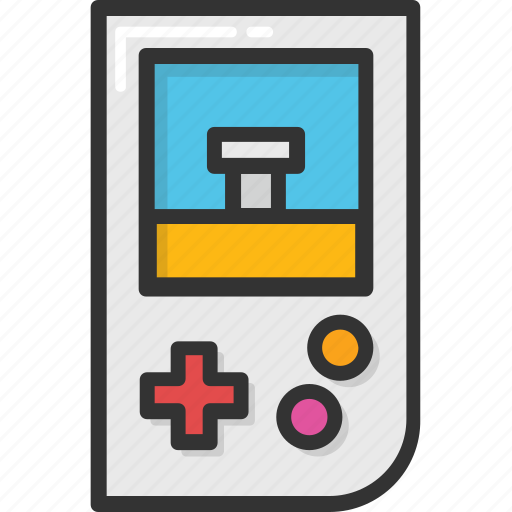 game device, gameboy, handheld game, retro game, videogame icon