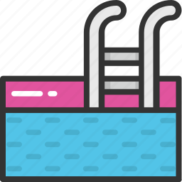 paddling pool, swimming, swimming bath, swimming pool, wading pool icon