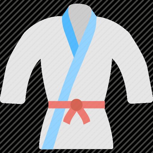 clothing, judo suits, karate, martial arts, uniform icon