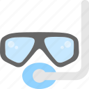 diving, scuba mask, snorkel mask, snorkeling, swimming icon
