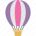 parachute, air balloon, travel, transport, hot air balloon icon