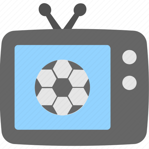 entertainment, football match, soccer, television, tv icon