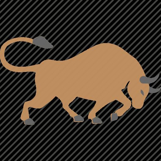 animal, bull, ox, wild, yak icon