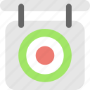 aim, bullseye, dartboard, shooting, target icon