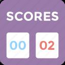 counts, scoreboard, game, game score, scores icon