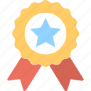 badge, reward, medal, prize, rank icon
