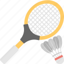 badminton, birdie, racket, shuttle, squash icon