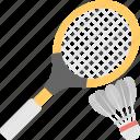 racket, shuttle, badminton, birdie, squash icon