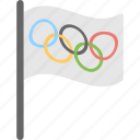 ensign, flag, olympics, sports, sports flag icon
