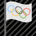 ensign, flag, olympics, sports flag, sports icon