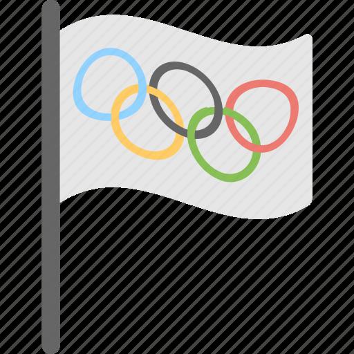 ensign, flag, olympics, sports, sports flag icon