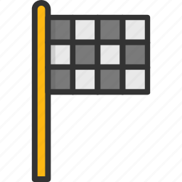 ensign, flagpole, sports, sports flag, waving icon
