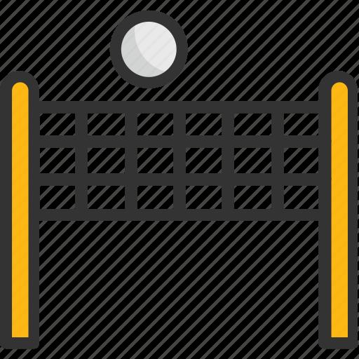goal post, soccer net, tennis court net, volleyball court, volleyball net icon