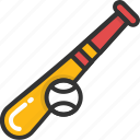 baseball, baseball equipment, baseball game, bat and ball, sports equipment icon