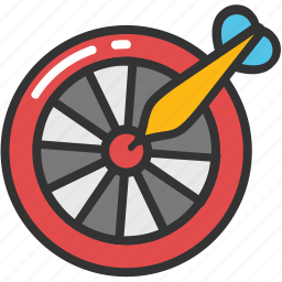 bullseye, dartboard, shooting, shooting dart, target icon