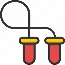fitness, gym, jumping rope, physical exercise, skipping rope icon