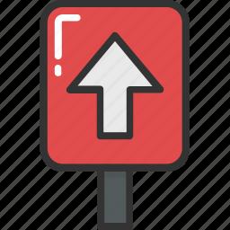 arrow direction, arrow hint, arrow indication, traffic sign, up arrow icon