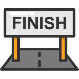 achievement, finish line, finish symbol, victory, winning point icon