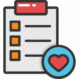 cardiology, compassionate living, daily health checklist, health checklist, heart checklist icon