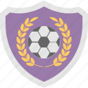 football, shield, soccer, sports, sports badge icon