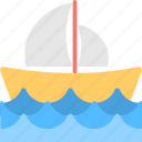 boat, sailboat, ship, transport, yacht icon