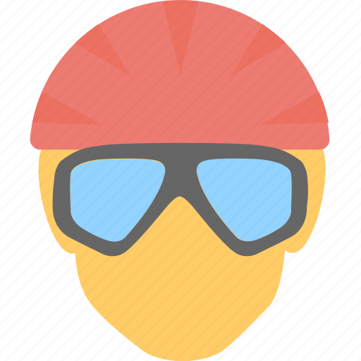 glasses, player, player avatar, swimmer, swimming cap icon