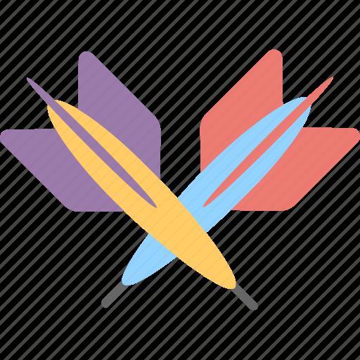 archery, arrow, bullseye, dart, dart pin icon
