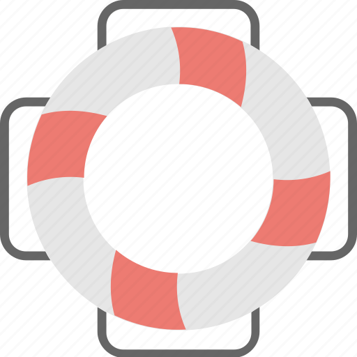 floating, life belt, life ring, safety, swimming icon