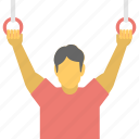 exercise, fitness, gymnastic, gymnastic rings, sports icon
