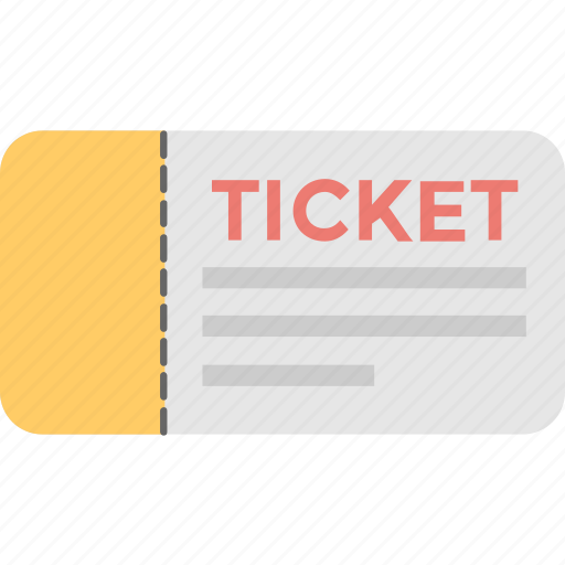 cinema ticket, entry, pass, theater, ticket icon