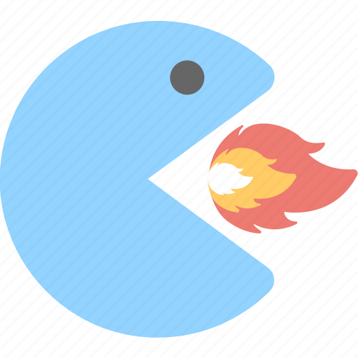 character, game, pacman, play, video game icon
